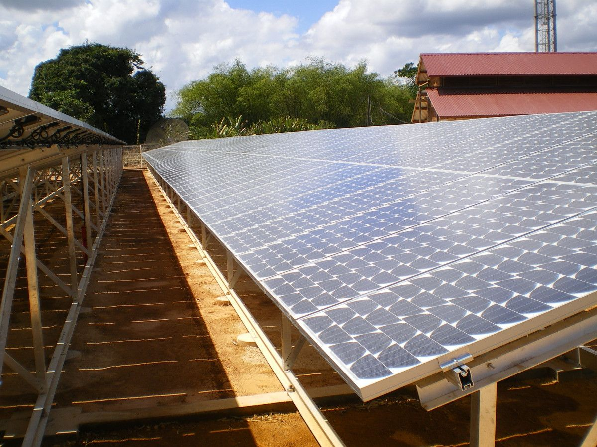 Set up of hybrid PV/diesel-powered power plants and